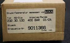 """WIKA Präzisionsmanometer 232.30.100  - 0-400bar  - Kl. 1,0   - Anschluss 1/2"""""""