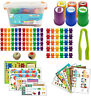 Childrens Colourful Counting Bears With Educational Activity Pack, Early Years