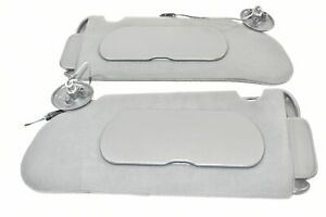 00-05 Buick LeSabre Sun Visor Illuminated Left Right Gray 01 02 03 04