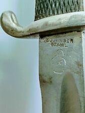Ww2 German Dagger Bayonet Knife Solingen Stahl Double Stamped Rare