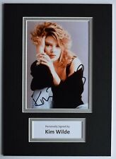 Kim Wilde Signed Autograph A4 photo display Music Kids in America AFTAL COA