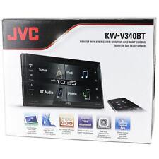 "JVC KW-V340BT 2-DIN DVD/CD/USB/AM/FM Receiver 6.8"" Touch Display w/ Bluetooth"