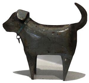 Grey Metal Rustic Dog Ornament