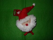 """NEW ~ Knit  red/white SANTA Ornament ~ 6"""" ~ by Enchanted Forest"""