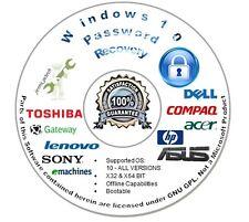 Password Recovery | Reset CD for Microsoft Windows 10 - Auto Boot Unlock Disc