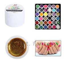 New 36PCS Glitter Mix Color UV Builder Gel Acrylic Set for Nail Art Tips Salon
