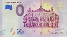 BILLET 0  EURO  OPERA GARNIER PARIS  FRANCE 2019  NUMERO 2000