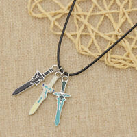 1Pc Anime Sword Art Online Asuna Kirito Necklace Cosplay Props Kazuto Sword Gift