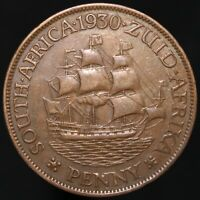 1930 | South Africa One Penny | Bronze | Coins | KM Coins