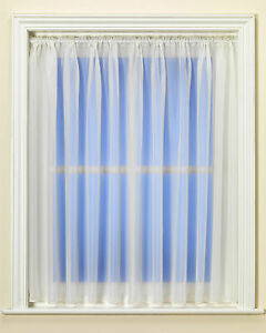 Best Selling Sheer Plain Ivory Voile / Net Curtain - Premium Quality