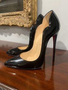 Christian Louboutin Hot Chick 130mm heels stiletto EU38/US8 EUC Black Patent
