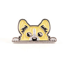 Pembroke Welsh Corgi Enamel Pin with Bonus Sticker Cardigan