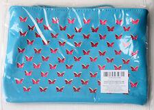 New Escada Bag Turquoise Summer Small Purse Case Makeup Pouch Zipper Pink Women