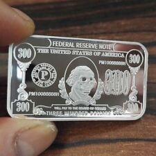 1 Troy oz  .999 Fine Silver Bar Bullion /  $300 design     SB1H9