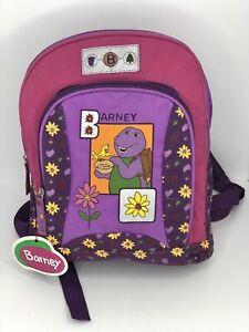 Vintage Barney Dinosaur Back Pack 90s Backpack Lyons Group Plastic Fabric NEW!