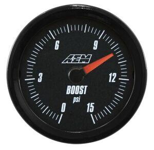 AEM Analog LOW Boost / Fuel Pressure Gauge (Range 0 - 15 PSI) #30-5144