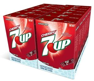 12 Boxes Of 7 Up Cherry Sugar Free On The Go Drink Mix Packets