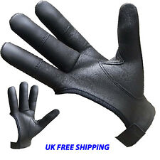 ARCHERS REAL LEATHER SHOOTING 4 FINGER RIGHT/LEFT GLOVE BLACK & CHOCOLATE BROWN