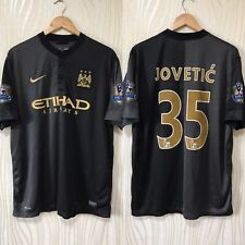 MANCHESTER CITY 2013 2014 AWAY FOOTBALL SHIRT SOCCER JERSEY #35 JOVETIC