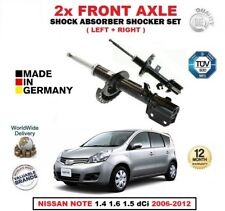 FOR NISSAN NOTE 1.4 1.6 1.5 dCi 2006-2012 FRONT LEFT + RIGHT SHOCK ABSORBER SET