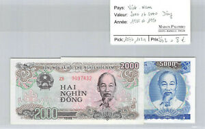 Vietnam 2000 And 5000 Dong 1988 And 1991 Pick 107b And 108a