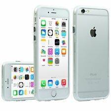 Funda bumper BLANCO-TRANSPARENTE para APPLE IPHONE 6 - 4,7 pulgadas - carcasa