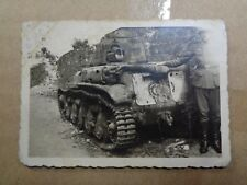 foto  char panzer beute frankreich