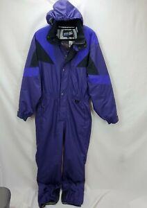 Vintage Boulder Gear Mens Snowsuit Snow Ski Suit Size Large Purple Insulated Ski