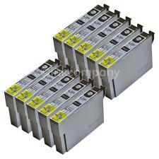 10 kompatible Tintenpatronen schwarz für den Drucker Epson SX430W S22