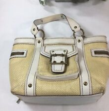 "COACH Handbags/Purse,  Straw White Leather,  10 1/2""'w x 5"" x 9""H"