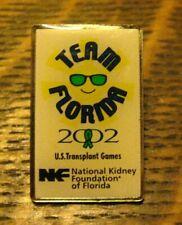 National Kidney Foundation Lapel Pin - 2002 Transplant Games Team Florida Badge