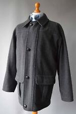 Mens Grey Jaeger Wool Blend Herringbone Patterned Jacket/Coat Size L,Large.