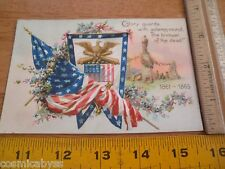 1908 Civil War rememberance postcard Gettysburg 1861-1865