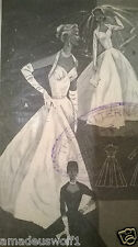 Vintage 50's BUTTERICK WEDDING PROM BALL EVENING DRESS GOWN Sewing Pattern B36