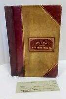 Vintage 1926 - 1940 Wood Process Company Inc Accounting Ledger Journal