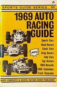 Auto Racing Guide 1969 NASCAR Drag Racing Indy Cars Road Racers Sports Cars
