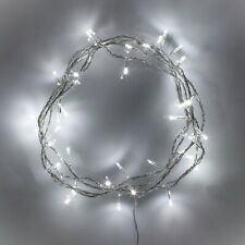 50 White LED Indoor Fairy Lights Clear Cable Plug In 24v 4m IP20 by Lights4fun