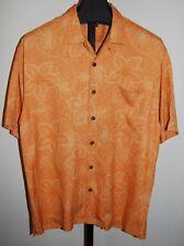 TOMMY BAHAMA 100% Silk Shirt  Sz L CAMP Loop Collar Hawaiian Aloha Tropical