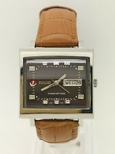 Vintage Rado Manhattan Brown Dial Automatic Watch Great Condition Serviced
