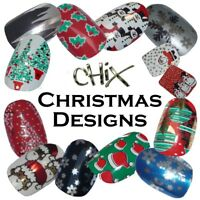 Christmas Nail Wraps Foils Finger Toes Vinyl Stickers Nails Santa Snow CHIX