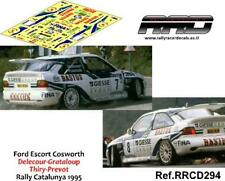 DECAL/CALCA 1/43; Ford Escort Cosworth; Delecour-Thiry; Rally Catalunya 1995