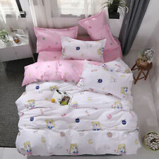 Cute Cartoon Sailor Moon Bedding Sets Duvet Cover Sheet Pillow Home Textile Bed