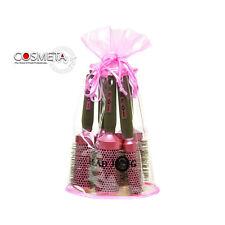 Head Jog rose rond céramique ionique Ensemble de brosses - 5 cheveux Outils