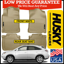 Husky Weatherbeater 2010-2015 Lexus RX350/RX450H Front and Rear Floor Mats TAN