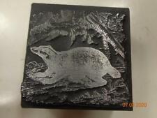 Printing Letterpress Printer Block Decorative Badger Print Cut