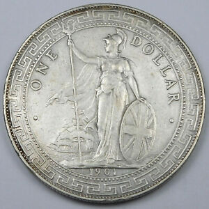 1901B Great Britain Silver Trade Dollar - KM# T5