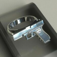 Men Party Fine Jewelry Size 9 Fashion 925 Silver Gothic Personalized Pistol Ring