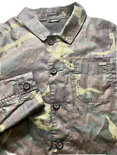 WILLIAM RAST Waxed Camouflage JACKET Water Resistant Men's Small Camo Rain Gear