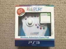 Kidz Play Wireless White & Blue Sony PlayStation 3 Controller GamePad New