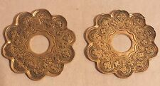 bougeoir chandelier bobeche polylobée bronze fleurs paire (n°3)